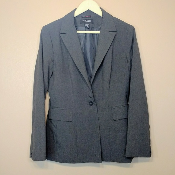 a08e1ecc5 New York & Company Gray Blazer Fully Lined Stretch